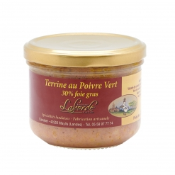 Terrine au poivre vert 30 % foie gras de canard