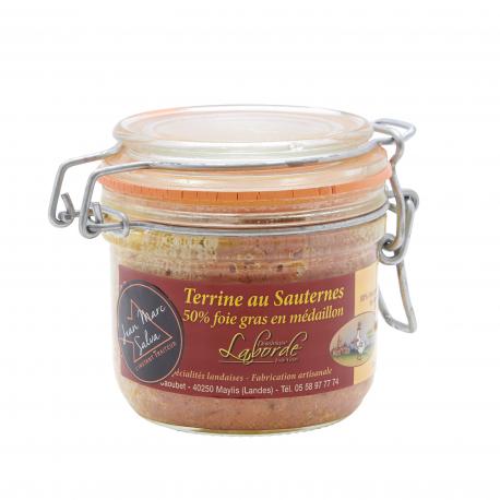 Terrine au Sauternes 50% foie gras en médaillon